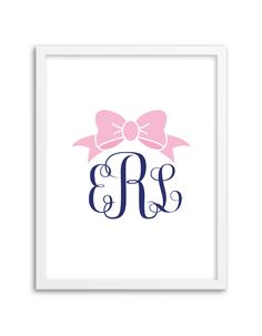 Download and print this free bow printable monogram using our FREE monogram generator!