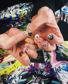 Edgy Nails, Grunge Nails, Funky Nails, Stylish Nails, Swag Nails, Cute Nails, Nail Design Stiletto, Nail Design Glitter, Hippie Nails