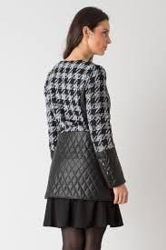 Houndstooth and Leather