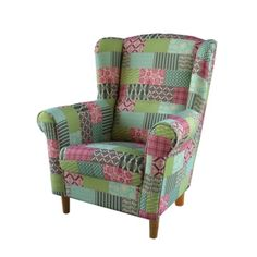 Kreslo ušiak látka patchwork M1 CHARLOT Armchair, Furniture, Home Decor, Fa, Decorations, Scrappy Quilts, Womb Chair, Dekoration, Home Furnishings