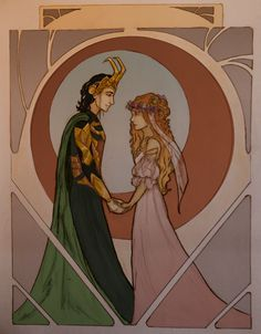 This might be my favorite fan art of Sigyn and Loki -Lex