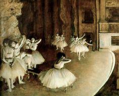 Edgar Degas - Ballet Rehearsal on Stage, 1874