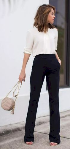 42 Top Popular Casual Work Outfits for Summer - Work Outfits Women Simple Work Outfits, Work Casual, Office Wear Women Work Outfits, Formal Casual Outfits, Office Look Women, Classy Outfits, Stylish Outfits, Office Attire Women Casual, Simple Office Outfit