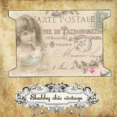 Postcard Invitation, Invitations, Printable Tags, Printables, Etiquette Vintage, Child Baby, Handmade Tags, Junk Journal, Persona