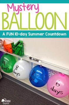 Mystery Balloon Fun Summer Countdown