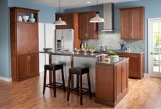 Ideas on pinterest cherry cabinets dark cabinets and granite
