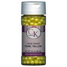 Pearl Yellow Candy Beads by Ck Products 7mm 3.5 ounce