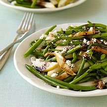 Haricot Vert, Pear and Goat Cheese Salad- I didn't have any cheese but it was still really good!