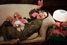 Paul Rudd with Poodles