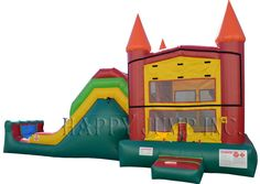 Backyard Jump & Slide Module (Wet & Dry): Bounce House For Sale  Jumpers For Sale   Inflatable Slide   Happy jump