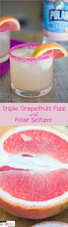 Triple Grapefruit Fizz Cocktail with Polar Seltzer -- wearenotmartha.com