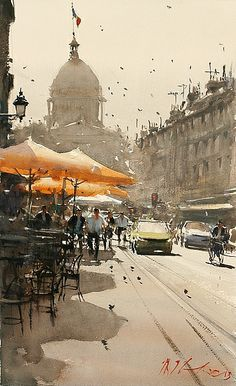 watercolor streets - Google Search