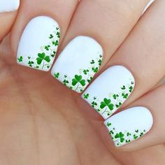 St patrick's day Nail Decal by MilieNailsCreation on Etsy: