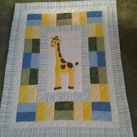baby quilt bedding safari quilt toddler blanket by diningout ... : giraffe baby quilt pattern - Adamdwight.com