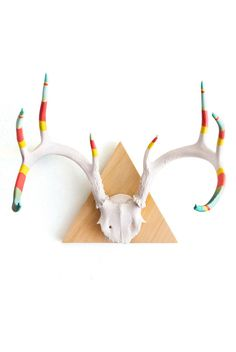 Painted antlers for boy room