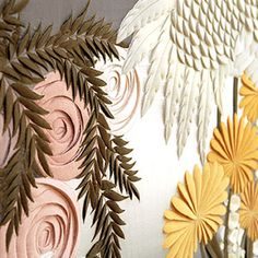 Craft and Couture: Floral Art: Helen Amy Murray Art Floral, Benjamin Shine, Laser Cut Fabric, Paper Cut Design, Leather Wall, Textiles, Fabric Manipulation, Fabric Art, Textile Design