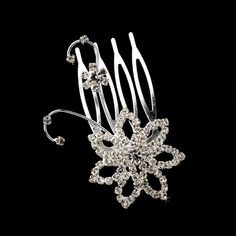 Marcella Swarovski Crystal Floral Wedding Hair Accent Pin Comb *** Want additional info? Click on the image.