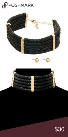 Multi Strand Black Faux Leather Cord Chocker Beautiful piece! I have been looking for something like this for a while after I wasn't able to get my hands on a Balmain piece. This is awesome. I would also bring a corded white and gold option. Buy now, shipping might take a couple of extra days. ClosetBlues Jewelry Necklaces