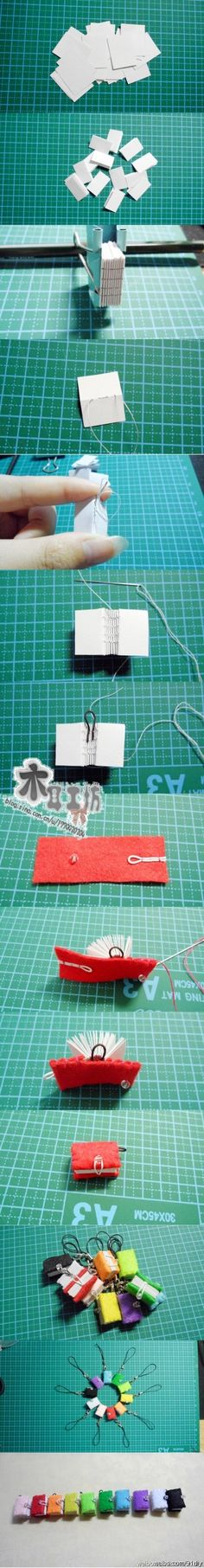 Book binding in tiny scale