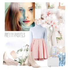 """Fall Pastels"" by sue-mes ❤ liked on Polyvore featuring MaxMara, Balmain, Martha Medeiros, Valentino, Marni, By Terry, Mes Demoiselles..., Christian Dior, Library of Flowers and Marli"