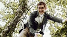 Three of my most favourite things.  Henry Tilney (JJ Feild), trees and apples.  Perfection in a picture!