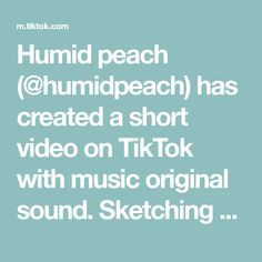 Humid peach (@humidpeach) has created a short video on TikTok with music original sound. Sketching #skechers #sketchbook #art #artist #foryou #foryoupage Redneck Woman, Texts, The Originals, Peach, Portrait Art, Skechers, Sketching, Music, Artist