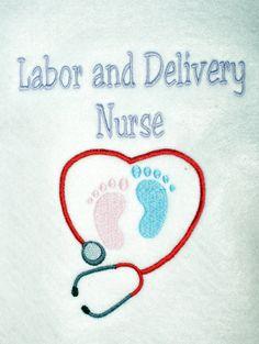 Labor and Delivery Nurse Custom Monogrammed White Fleece Jacket Heart Stethoscope