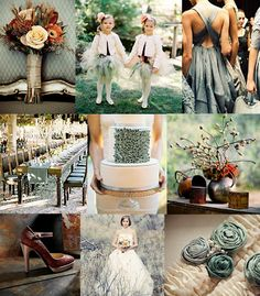 Creative Odds n' Ends: Inspiration Board Wednesday: Rust & Dusty Teal