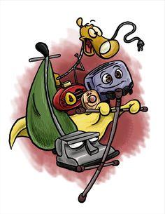 Brave Little Toaster by Brah-J on DeviantArt Disney Films, Disney Pixar, Tattoo Flash Art, Tattoo Art, Brave Little Toaster, Disney Sleeve, Halloween Rocks, Childhood Movies, Cool Stickers