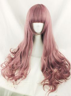 Beautiful wig, HARAJUKU lolita amo taro powder blended color air volume 70cm-inCostumes & Accessories from Apparel & Accessories on Aliexpre...