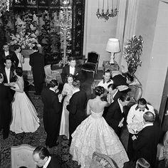 Guests at Paul-Louis Weiller's birthday dinner for Elsie de Wolfe, Paris, 1938.