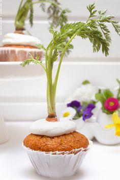 Eine letzte Osteridee oder ein Rezept für jeden Tag: Carrot Cupcakes