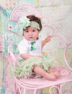 "baby petticoat + body ""rhinestone kroon"" + haarband Kirei Sui"