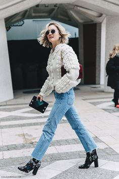 chunky sweater and cool boots
