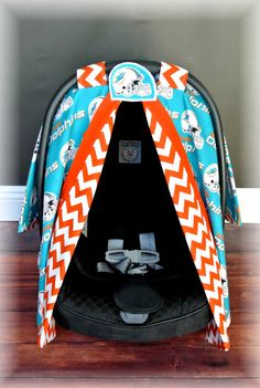 Miami DOLPHINS car seat canopy car seat cover by JaydenandOlivia