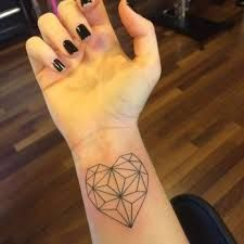 Image result for geometric heart tattoo