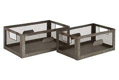 Asst of 2 Industrial Baskets on OneKingsLane.com