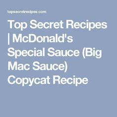 Top Secret Recipes | McDonald's Special Sauce (Big Mac Sauce) Copycat Recipe