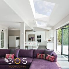 Have you considered a frameless skylight for your pitched roof? Unlike a traditional Velux style product, our skylights benefit from no internal frame, maximising the light and giving your home a clean contemporary look. Contemporary House, Apex Roof, Velux Windows, Roof Light, Pitched Roof, House Interior, Lean To Roof, Home, Loft Spaces