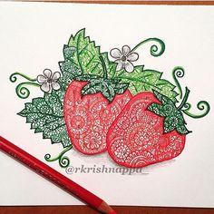 Got nothing new to post so - #repost #strawberry . . #strawberries #potpourriofartists #mandala #mandalatattoo #mandalas #mandalaart #zentangle #zenart #zendoodle #doodle #doodles #penandink #penart #mystaedtler #staedtler #prismacolor #fruits #spring #tattoopins #tattoo