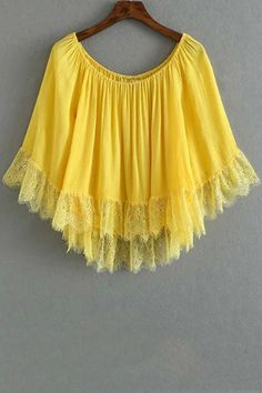 Solid Color Lace Splicing Jewel Neck 3/4 Sleeve Blouse