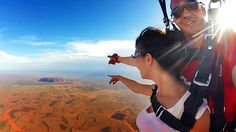 Feel the fear and do it anyway! Skydiving Australia (Uluru)