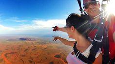 Feel the fear and do it anyway! Skydiving Australia (Uluru)