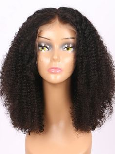 Kinky Curly Remy Human Hair 13x4 Lace Front Bob Wigs For Black Women Curly Full Lace Wig, Human Hair Lace Wigs, Remy Human Hair, Short Pixie Wigs, Short Hair Cuts, Eva Hair, Kinky Curly Wigs, Best Wigs, Black Wig