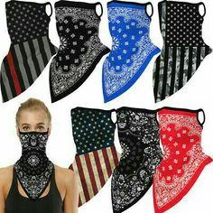 Easy Face Masks, Half Face Mask, Diy Face Mask, Mouth Mask Fashion, Rave Mask, Tube Scarf, Bandana Scarf, Clothes Crafts, Diy Clothing