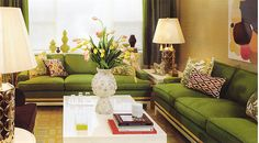 Green Couch Living Room Decorating Ideas - Luvne.com - Best Interior Design Blogs