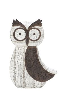 Small Wooden Owl Decoration