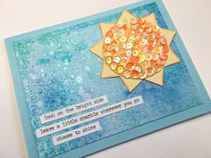 Bright Side Sequin Card