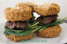 Still need a 4th of July menu item? Paleo Turkey Burger Sliders with Sweet Potato Buns!