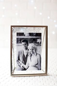 DIY Antique Glass Photo Frame